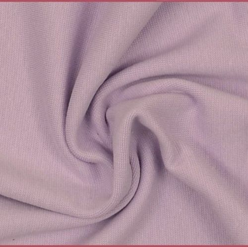 Stretch Ribbing/Collar/Cuff Fabric - Light Purple LW - 96% Cotton 4% Lycra