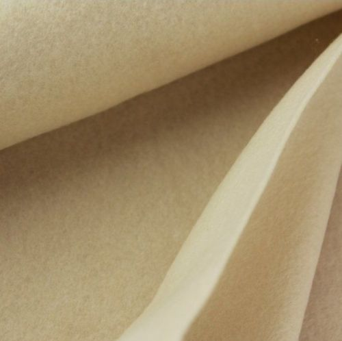 1.5mm Felt Fabric Sheet - Ecru - 100% Polyester - Rectangular Sheet