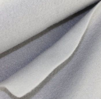 1.5mm Felt Fabric Sheet - Light Grey - 100% Polyester - Rectangular Sheet