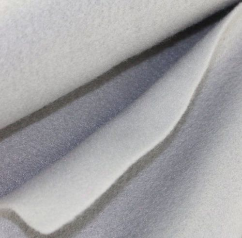 1.5mm Felt Fabric Sheet - Silver - 100% Polyester - Rectangular Sheet