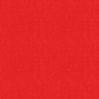 Makower Fabric - Linen Texture Look - Red - 100% Cotton