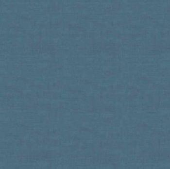 Makower Fabric - Linen Texture Look - Denim Blue - 100% Cotton