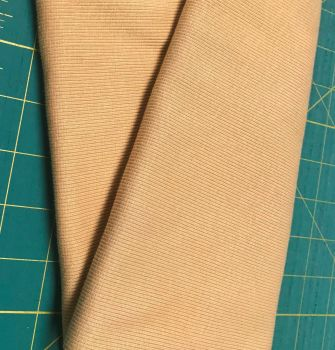 Stretch Ribbing/Collar/Cuff Fabric - Plain Dull Mustard HW - 95% Cotton 5% Lycra Half Metre