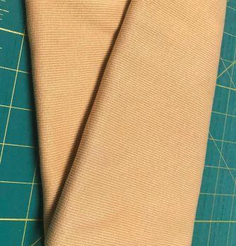 Stretch Ribbing/Collar/Cuff Fabric - Plain Dull Mustard HW - 95% Cotton 5% Lycra Half Metre