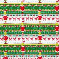 Dr Seuss Fabric - How The Grinch Stole Xmas - Border Stripe - 100% Cotton - 1/4m+