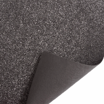 Glitter Felt Fabric Sheet - Pewter - 100% Polyester - Sheet