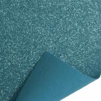 Glitter Felt Fabric Sheet - Blue - 100% Polyester - Rectangular Sheet