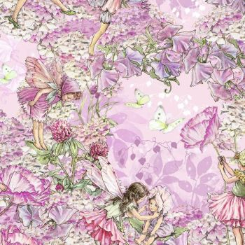 Michael Miller Fabric - Flower Fairies - Petal Pink - 100% Cotton - 1/4M+