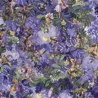 Michael Miller Fabric - Night Fairies Allover - Nite - 100% Cotton - 1/4M+