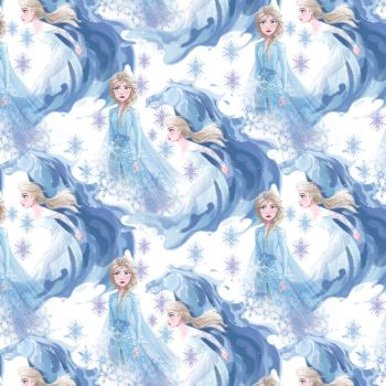 Disney Fabric - Frozen 2 - Elsa in Her Element - 100% Cotton - 1/4m+
