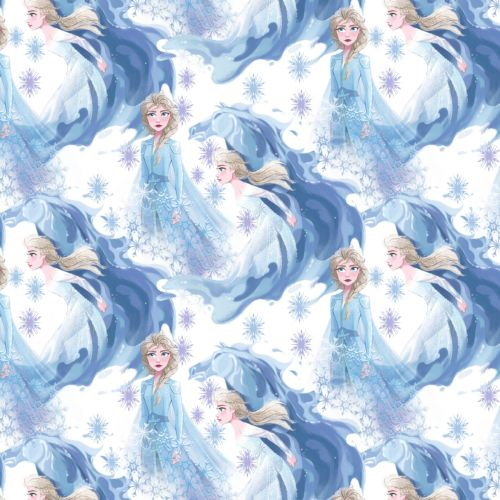 Disney Fabric - Frozen 2 - Elsa in Her Element - 100% Cotton - 1/4m+