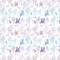 Disney Fabric - Frozen 2 - Character and Tree Silhouette - 100% Cotton - 1/4m+