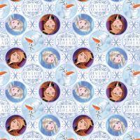 Disney Fabric - Frozen 2 - Elsa, Anna and Olaf Mythic Journey Badges - 100% Cotton - 1/4m+