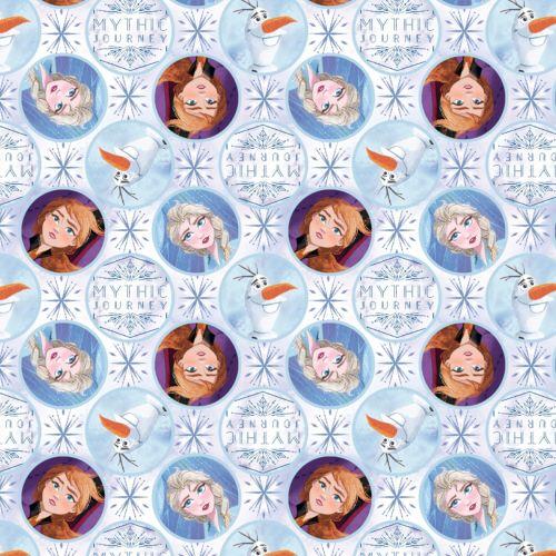 Disney Fabric - Frozen 2 - Elsa, Anna and Olaf Mythic Journey Badges - 100%