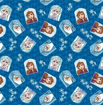 Disney Fabric - Frozen 2 - Elsa, Anna and Olaf Character Badges - 100% Cotton - 1/4m+