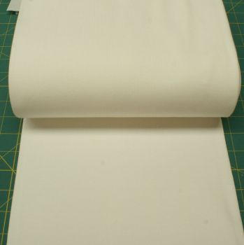 Stretch Ribbing/Collar/Cuff Fabric - Plain Cream/Off White HW - 95% Cotton 5% Lycra Half Metre