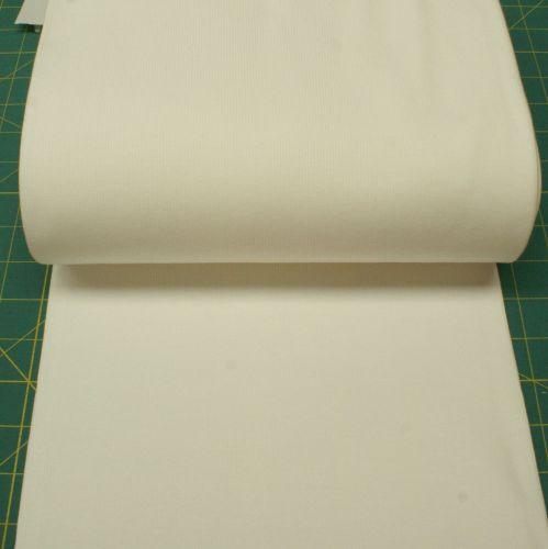 Stretch Ribbing/Collar/Cuff Fabric - Plain Cream/Off White HW - 95% Cotton