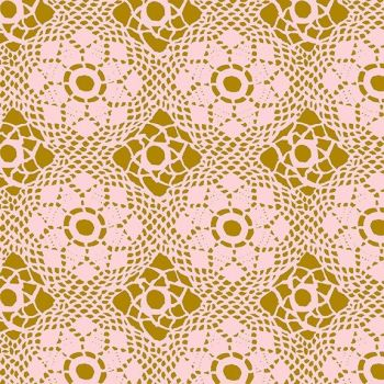 Andover Fabric - Alison Glass - Handiwork - Crochet - Blush - 100% Cotton - 1/4m+