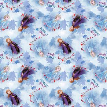 Disney Fabric - Frozen 2 - Forest Spirit Elsa and Anna Toss - 100% Cotton - 1/4m+