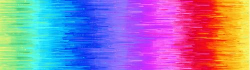 Timeless Treasures Fabric - Nightlife - Rainbow Ombre - 100% Cotton - Long