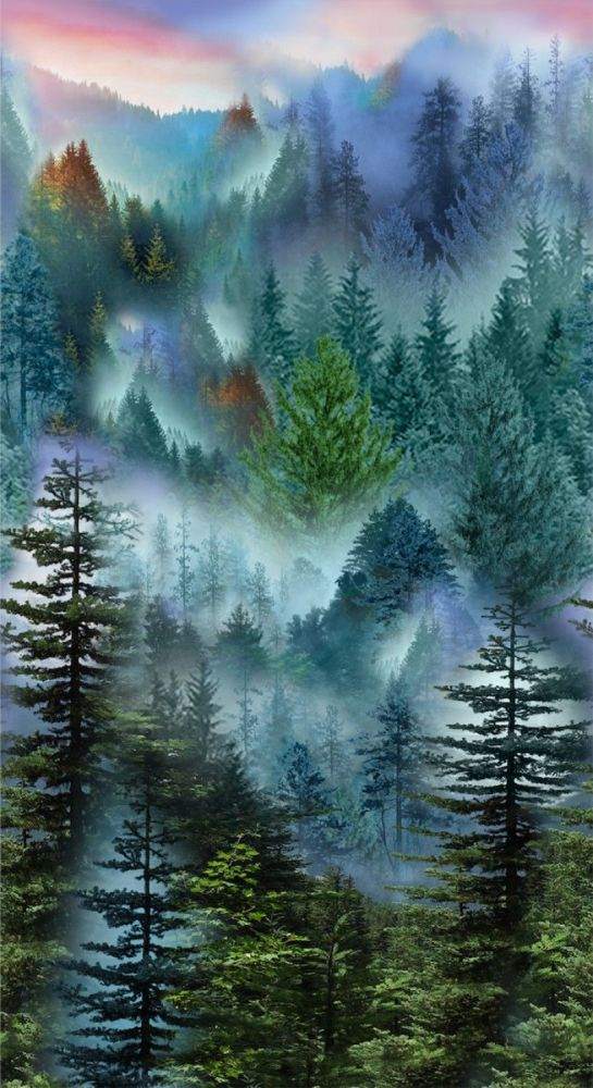Timeless Treasures Fabric - Mountain Side Panel - 100% Cotton