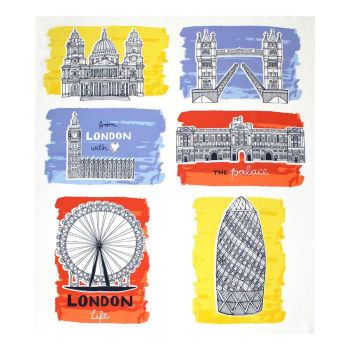Camelot Fabric - From London with Love - Sites Panel - 100% Cotton