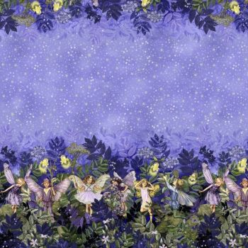 Michael Miller Fabric - Night Fairies - Double Border - 100% Cotton - Half Metre