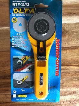 Olfa - Straight Blade Rotary Cutter - 60mm