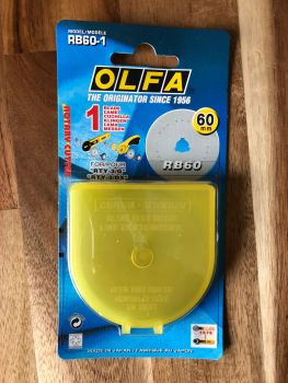 Olfa - Replacement Straight Blade for Rotary Cutter - 60mm x 1