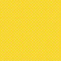 Makower Fabric - Spots - Sunshine Yellow Y63 - 100% Cotton - 1/4m+