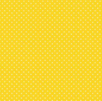 Makower Fabric - Spots - Sunshine Yellow Y63 - 100% Cotton - 1/4m+