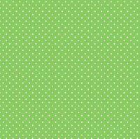 Makower Fabric - Spots - Apple Green G65 - 100% Cotton - 1/4m+