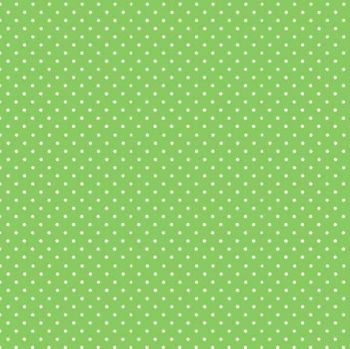 Makower Fabric - Spots - Apple Green G65 - 100% Cotton - 1/4m+