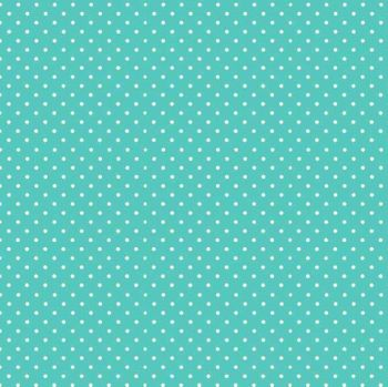 Makower Fabric - Spots - Aqua Blue T65 - 100% Cotton - 1/4m+