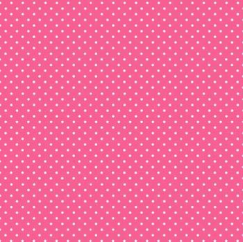 Makower Fabric - Spots - Candy Pink P65 - 100% Cotton - 1/4m+