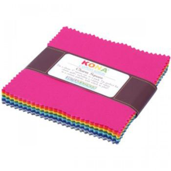 Robert Kaufman Fabric - Kona Summer - Charm Pack - 100% Cotton