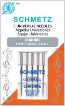 Schmetz Needles - Chrome Universal - Size 80/12 - Pack of 5