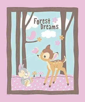 Disney Fabric - Bambi Woodland Dreams Panel - 100% Cotton