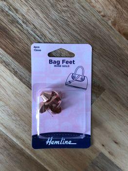 Hemline 15mm Steel Bag Feet - Rose Gold x 4