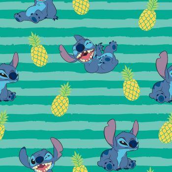 Disney Fabric - Lilo and Stitch - Stitch Stripe - 100% Cotton - 1/4m+