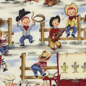 Michael Miller Fabric - Lil Cowpokes - 100% Cotton - 1/4M+