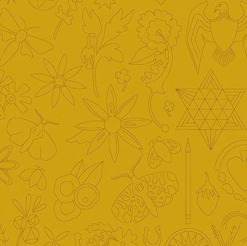 Andover Fabric - Alison Glass - Sun Prints - Embroidery - Yarrow - 100% Cotton - 1/4m+