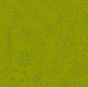 Andover Fabric - Alison Glass - Sun Prints - Embroidery - Olive - 100% Cotton - 1/4m+