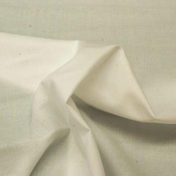 Combed Cotton Lawn Fabric - White - 100% Cotton - 140cm wide - Metre