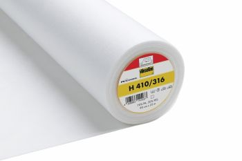 Vilene H410/316 - Ultra soft, heavy, iron on fusible interfacing - White - metre