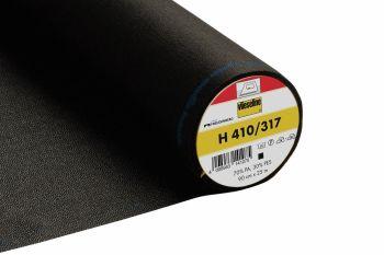 Vilene H410/317 - Ultra soft, heavy, iron on fusible interfacing - Black - metre