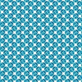 Andover Fabric - Buzzin Around - Ladybugs - Blue - 100% Cotton - 1/4m+