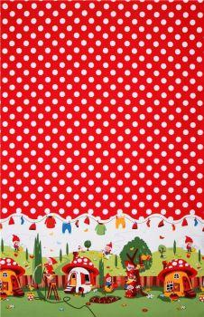 Michael Miller Fabric - Gnomeville Border Print - 100% Cotton - Half Metre