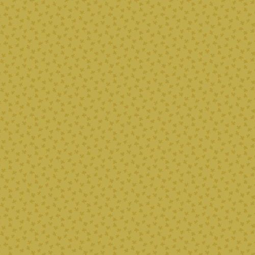Andover Fabric - Bijoux by Kathy Hall - Clover Mustard - 100% Cotton - 1/4m
