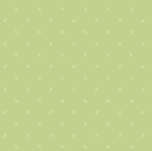 Andover Fabric - Bijoux by Kathy Hall - Pennant Asparagus - 100% Cotton - 1